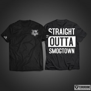 Straight Outta Smogtown - T.W.A. - T-shirt - Terrordome